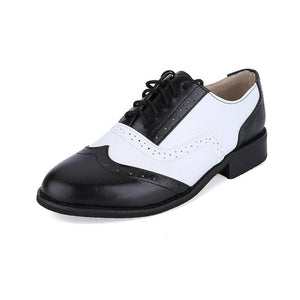 MLXBXHL Men's Genuine Leather Black & White Oxford Dress Shoes