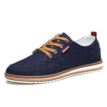 JINTOHO Men's Fashion Laced-Up Canvas Denim Sneaker Shoes