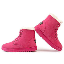 LAKESHIA Women's Sports Fashion Plush Fur Stylish Ankle Boot Shoes - Divine Inspiration Styles