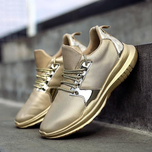 ORV Women's Fashion Stylish Gold Silver Black Metallic Sneaker Shoes - Divine Inspiration Styles