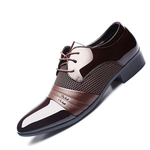 ZXQ Men's Genuine Leather Formal Business Dress Shoes - Divine Inspiration Styles