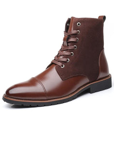 HARTFORD Design Men's Fashion Genuine Leather Lace-Up Ankle Boots Work Shoes - Divine Inspiration Styles