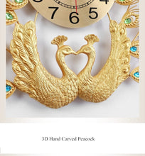 SDH Double Peacock Wall Clock Modern Design Home Decoration Art Wall Clock - Divine Inspiration Styles