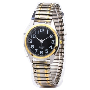 NMS Men's & Women's Business Fashion Watches Elastic Stretch Gold Sliver Quartz Watch Couples Watches Party Office Bracelet Watches Gift - Divine Inspiration Styles