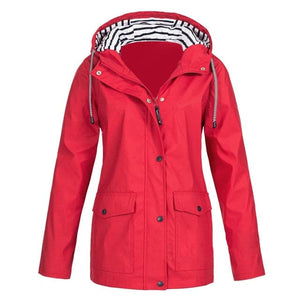RTSHINE Women's Fashion Stylish Hooded Light Jacket Windproof Zipper Jacket - Divine Inspiration Styles