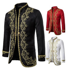 KINGSTON DESIGN Men's Fashion Gold Embroidery Regal Palace Style Men's Blazers - Divine Inspiration Styles