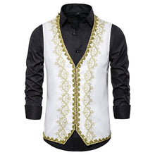 KINGSTON Design Men's Fashion Gold Embroidery Regal Palace Style Blazer - Divine Inspiration Styles