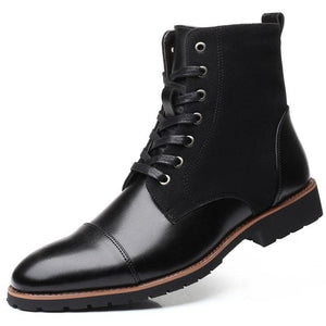 HARTFORD'S Men's Fashion Genuine Leather Lace-Up Ankle Boots Work Shoes - Divine Inspiration Styles