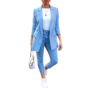 JMC Women's Fashion Spring Autumn Winter Blazer Jacket for Women - Divine Inspiration Styles