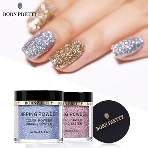 BORN PRETTY Holographic Dip Nail Powder Gradient Dipping Glitter for Nails - Divine Inspiration Styles