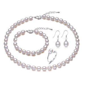 LACEY Genuine Natural Freshwater Pearl Jewelry Set - Divine Inspiration Styles