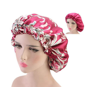 NYAN Design Collection Women's Fashion Large Size Beauty Sleep Hair Night Cap Silk Bonnet Hat - Divine Inspiration Styles