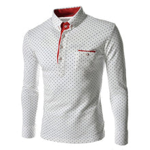 BRADFORD Design Collection Men's Fashion Polka Dot Button Top Long Sleeve Shirt - Divine Inspiration Styles