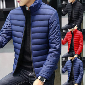 JMC Men's Fashion Premium Quality Light Jacket Business Casual Zipper Styled Thick Cotton Jacket - Divine Inspiration Styles