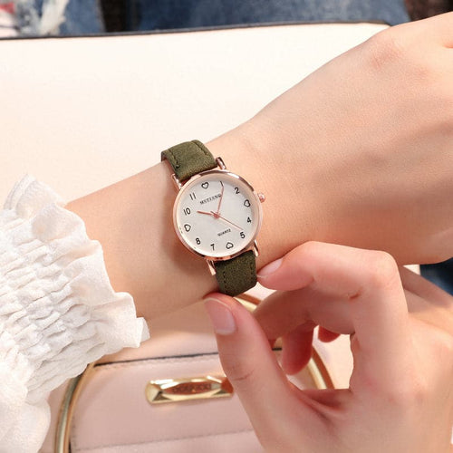 ILOVELIFE-MSTIANO Design Women's Fine Fashion Simple Vintage Round Dial Genuine Leather Watch - Divine Inspiration Styles