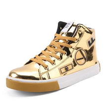 RMEDAL Men's Sports Fashion Metallic Leather Canvas Sneaker Shoes - Divine Inspiration Styles