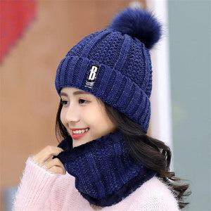 SPK Brand Women's Winter Knitted Beanie Hats Thick Warm Beanie Knitted Cap & Infinity Scarf - Divine Inspiration Styles