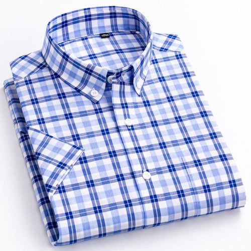 MGN Men's Fashion Premium Quality Stylish Short Sleeves 100% Cotton Dress Shirt - Divine Inspiration Styles