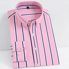 DGH Men's Fashion Premium Quality Soft Stretch Business Casual Stripe Dress Shirt - Divine Inspiration Styles