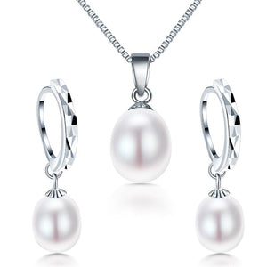 Dainashi Genuine Natural Freshwater Pearl Jewelry Set