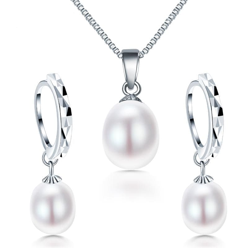 DAINASHI Women's Fine Fashion Diamond Accent Genuine Pearl Jewelry Set - Divine Inspiration Styles