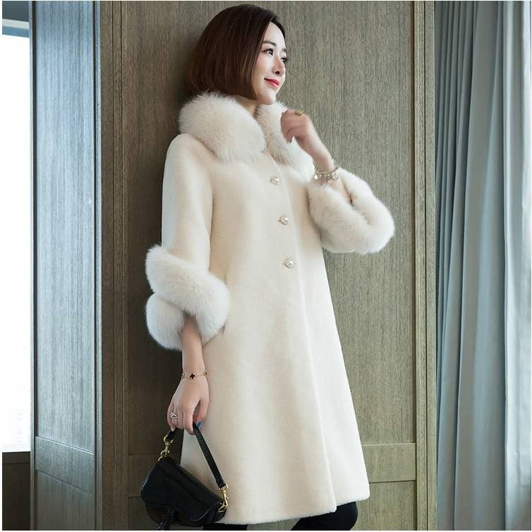 LUGENTOLO Women's Fine Fashion Elegant Faux Fur Coat - Divine Inspiration Styles
