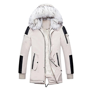 TLR Men's Sports Fashion Designer Thick Winter Parka Fur Collar Hooded Coat Jacket - Divine Inspiration Styles