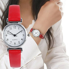 ILOVELIFE Women's Fine Fashion Genuine Leather Classic Round Dial Watch - Divine Inspiration Styles