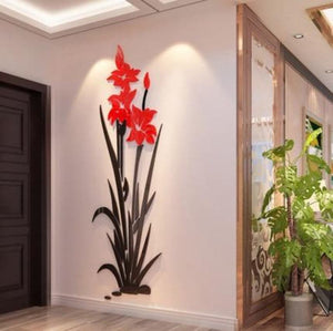 TULIP Flower Design Home Decoration 3D Acrylic Wall Sticker for Home Decor - Divine Inspiration Styles