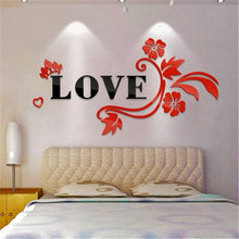 LOVE Flower Design Home Decoration 3D Acrylic Wall Sticker for Home Decor - Divine Inspiration Styles
