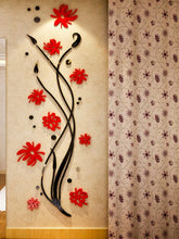 ORCHID Flower Design Home Decoration 3D Acrylic Wall Sticker for Home Decor - Divine Inspiration Styles