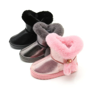 STVH Children's Snow Boots for Girls Shoes Winter Plush Velvet Warm Shoes for Kids - Divine Inspiration Styles