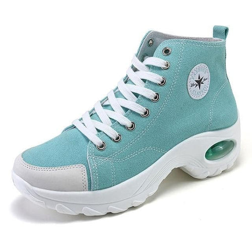 AIRAVATA Women's Fashion Sporty Canvas Ankle Boots Sneaker Shoes - Divine Inspiration Styles