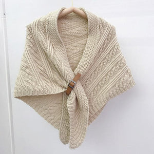 ALISON Design Women's Fashion Premium Quality Knitted Poncho Scarf - Divine Inspiration Styles