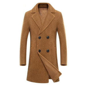 BRADFORD Design Collection Men's Fashion Premium Quality Long Wool Blend Trench Coat - Divine Inspiration Styles