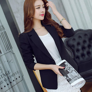MARA'S DREAM Women's Fashion Solid Color One Button Blazer Suit Jacket - Divine Inspiration Styles