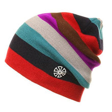 GMAY Men's & Women's Luxury Fashion Colorful Stripes Knitted Hat - Divine Inspiration Styles