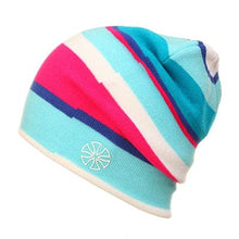 GEMAY G.M. Assorted Colorful Stripes Winter Knitted Hats for Men and Women