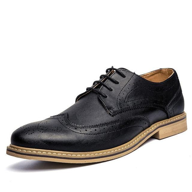 MERKMAK Men's Genuine Leather Business Dress Shoes - Divine Inspiration Styles