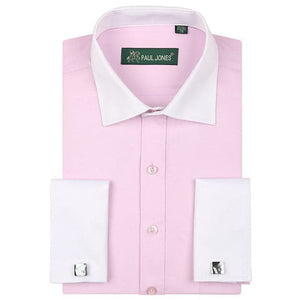 PAULJONES Men's Business Formal Long Sleeves Dress Shirt with Cufflinks Included - Divine Inspiration Styles