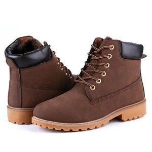 ROXDIA Men's Genuine Suede Leather Boots Shoes - Divine Inspiration Styles