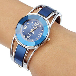 XINHUA Women's Fashion Blue Pink White & Black Luxury Enamel Bracelet Watch