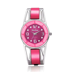 XINHUA Women's Fashion Blue Pink White & Black Enamel Bracelet Watch - Divine Inspiration Styles