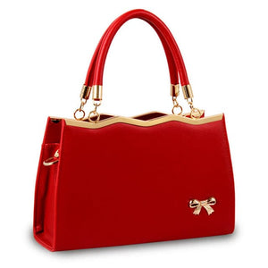 YINGPEI-ROYAL-BOW Women's Fashion Genuine Leather Shoulder Crossbody Designer Handbag - Divine Inspiration Styles