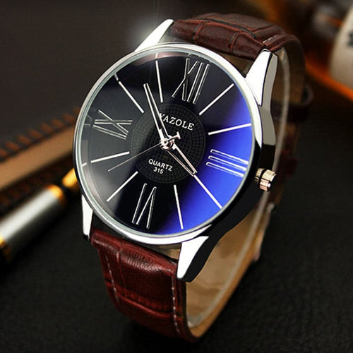 YAZOLE Men's Fashion Luxury Premium Leather Watch - Divine Inspiration Styles