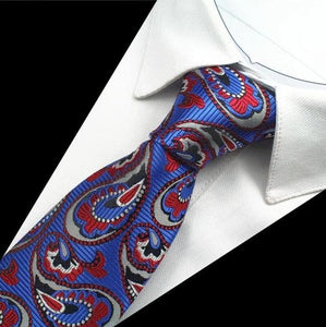 GUSLESON Men's Fashion Plaids Paisley Dotted 100% Premium Top Quality Silk Neck Ties for Formal and Casual Business Events - Divine Inspiration Styles