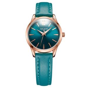 JULIUS Women's Fashion Elegant Simple Design Genuine Leather Watch