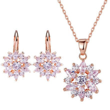 BETHANY's Women's Fine Fashion Luxury Rose Gold Multi-Color Flower Jewelry Set - Divine Inspiration Styles
