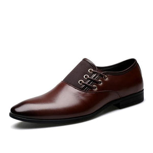 BOSLEY Men's Formal Business Genuine Leather Dress Shoes - Divine Inspiration Styles