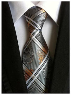 SHELTON Men's Fashion 100% Premium Quality Fully Woven Jacquard Silk Ties for Formal Business Suits - Divine Inspiration Styles